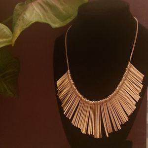 Gorgeous Gold Tone Paddle Necklace